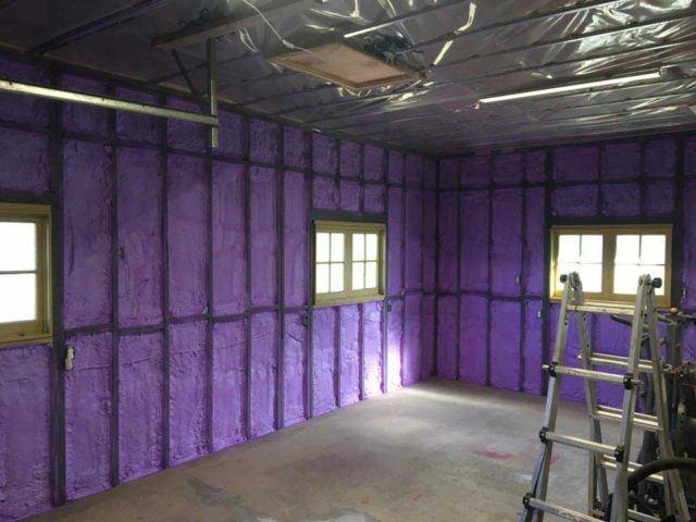 Garage Insulation In Kingston Spray Foam Project Ecocomfort