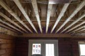 wooden framing for house roof